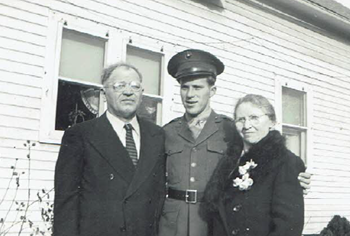 Edward Nycz with his parents