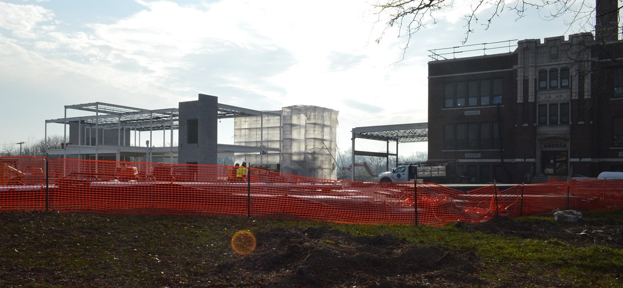 Photo of construction at Rossford High School
