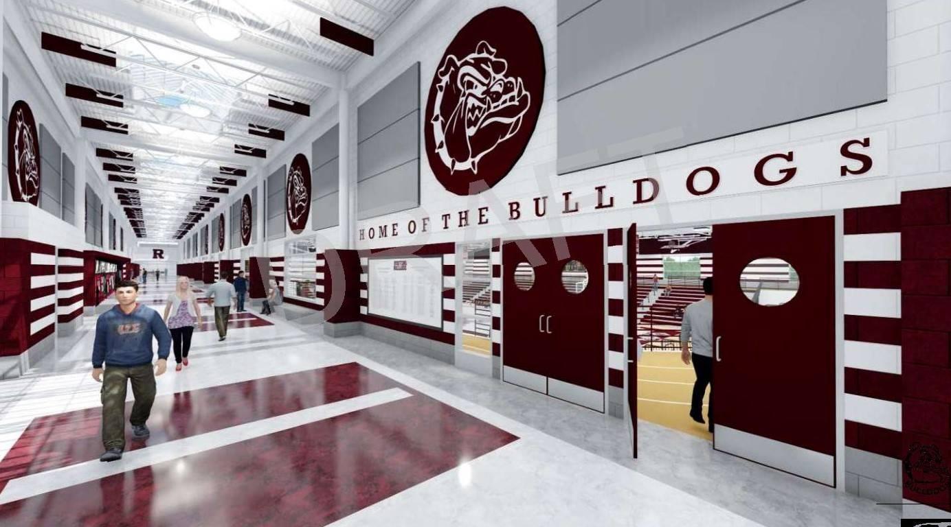 High School concourse