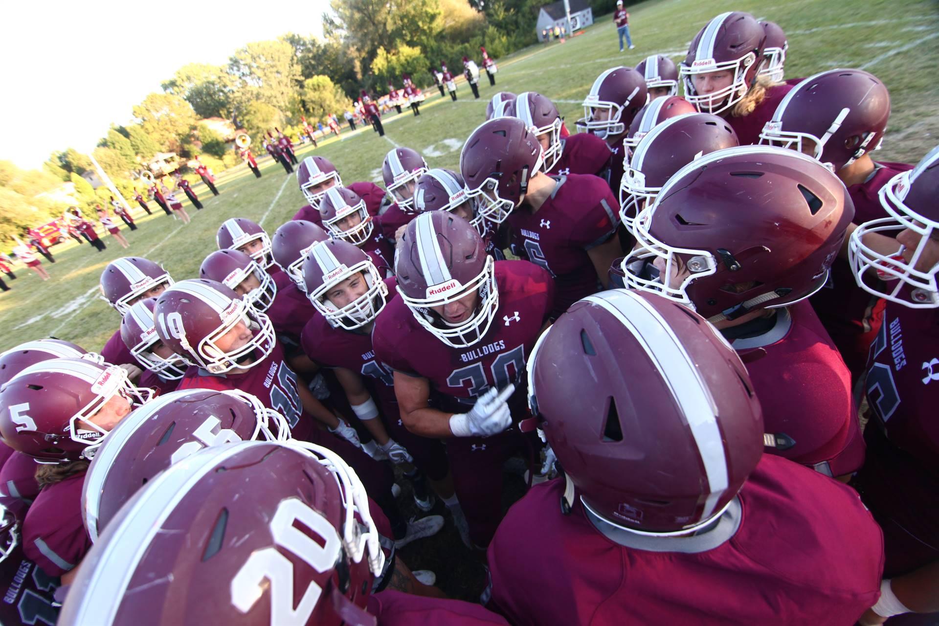 RHS football huddle