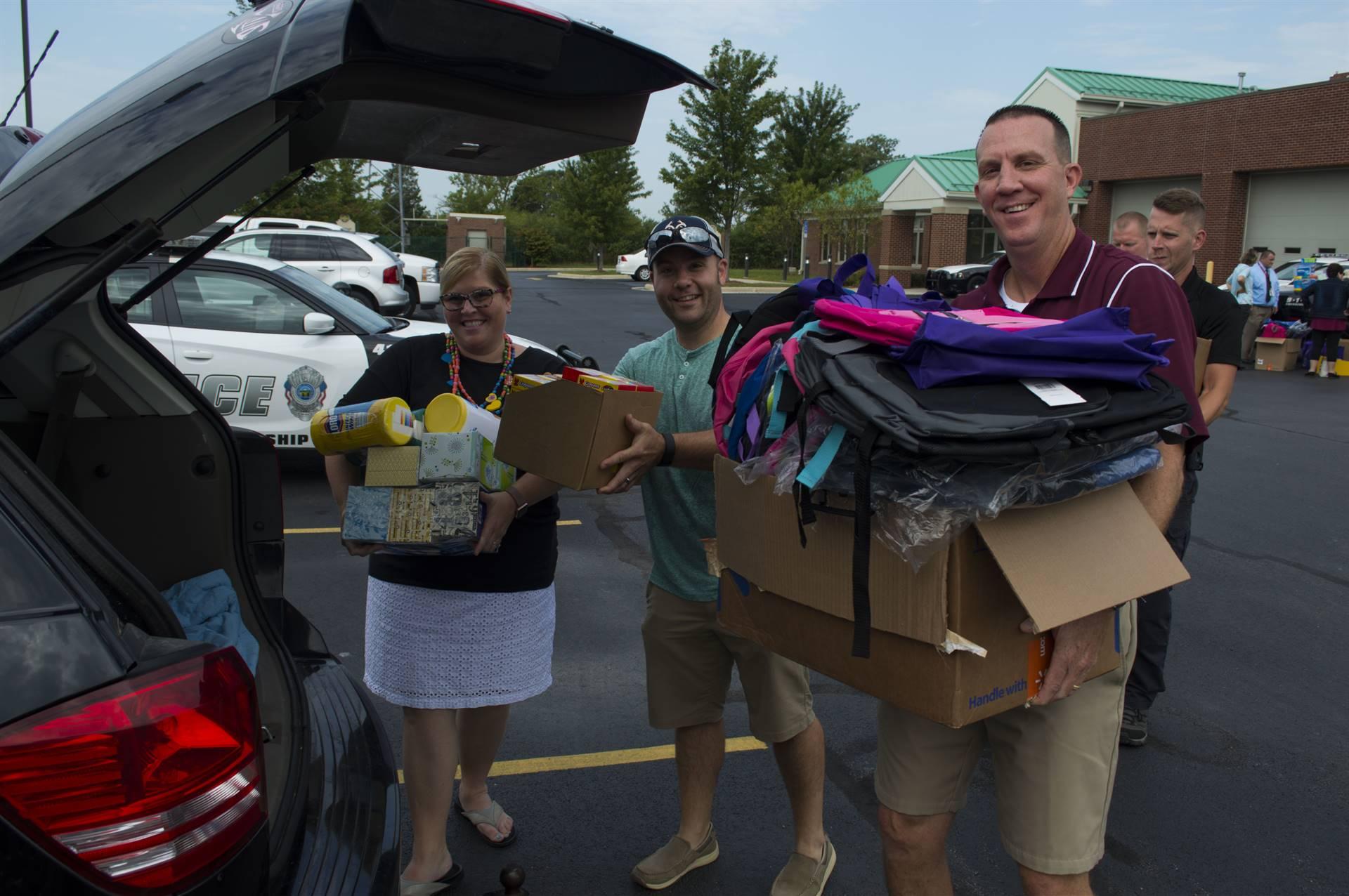 Principals picking up school supplies