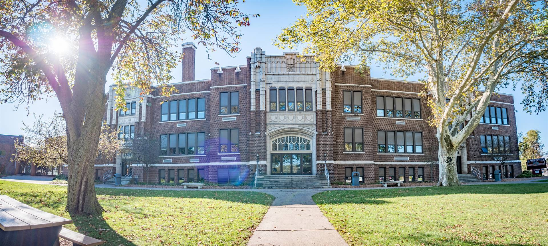 Rossford High School front facade