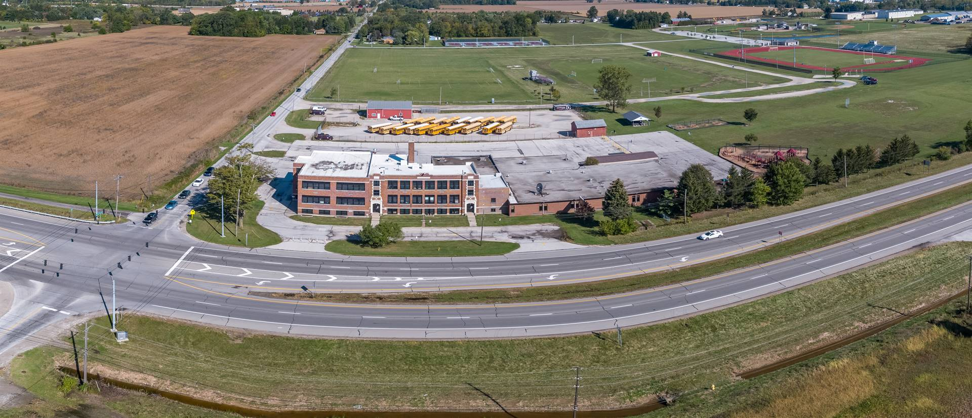 Aerial photo of Glenwood Elementary