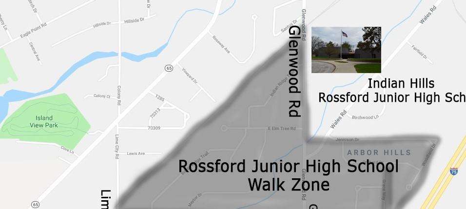 Rossford Junior High School Walk Zone