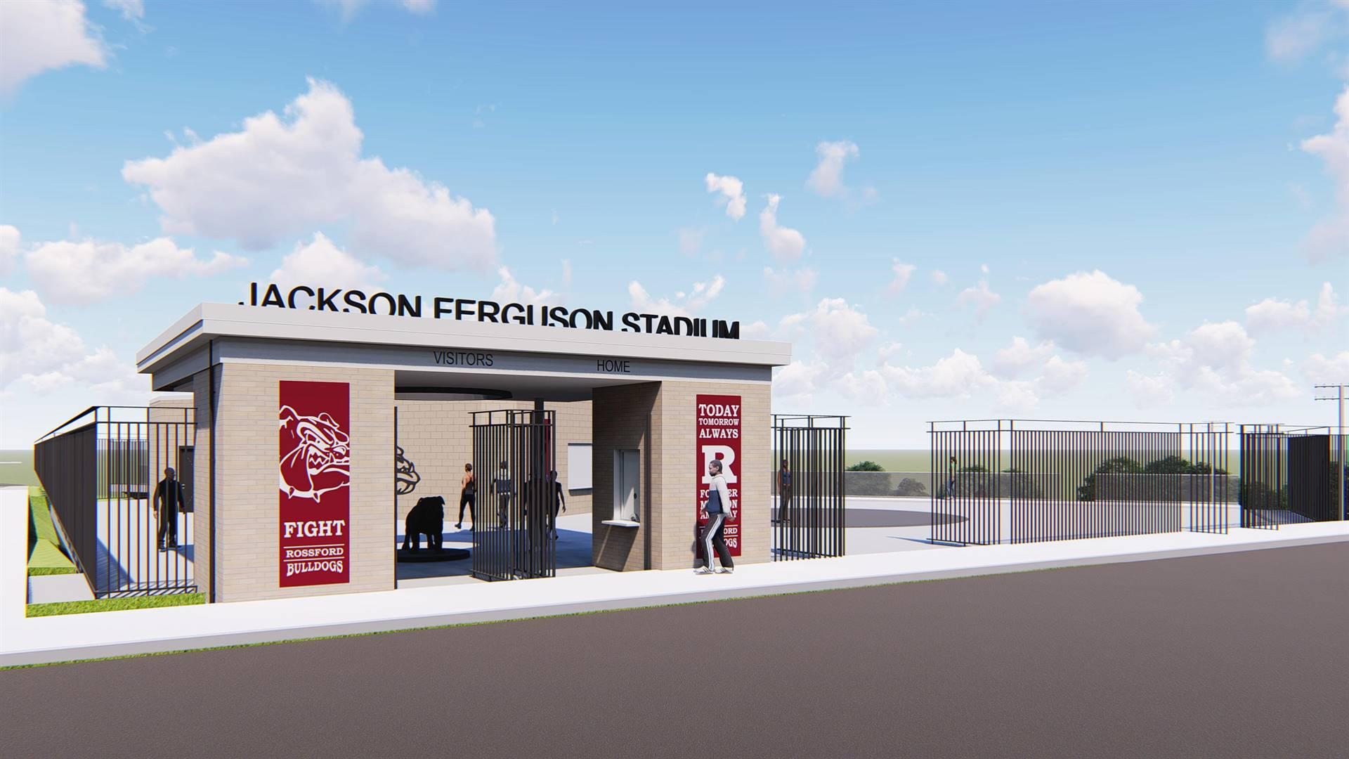 Entrance to Jackson Ferguson Stadium