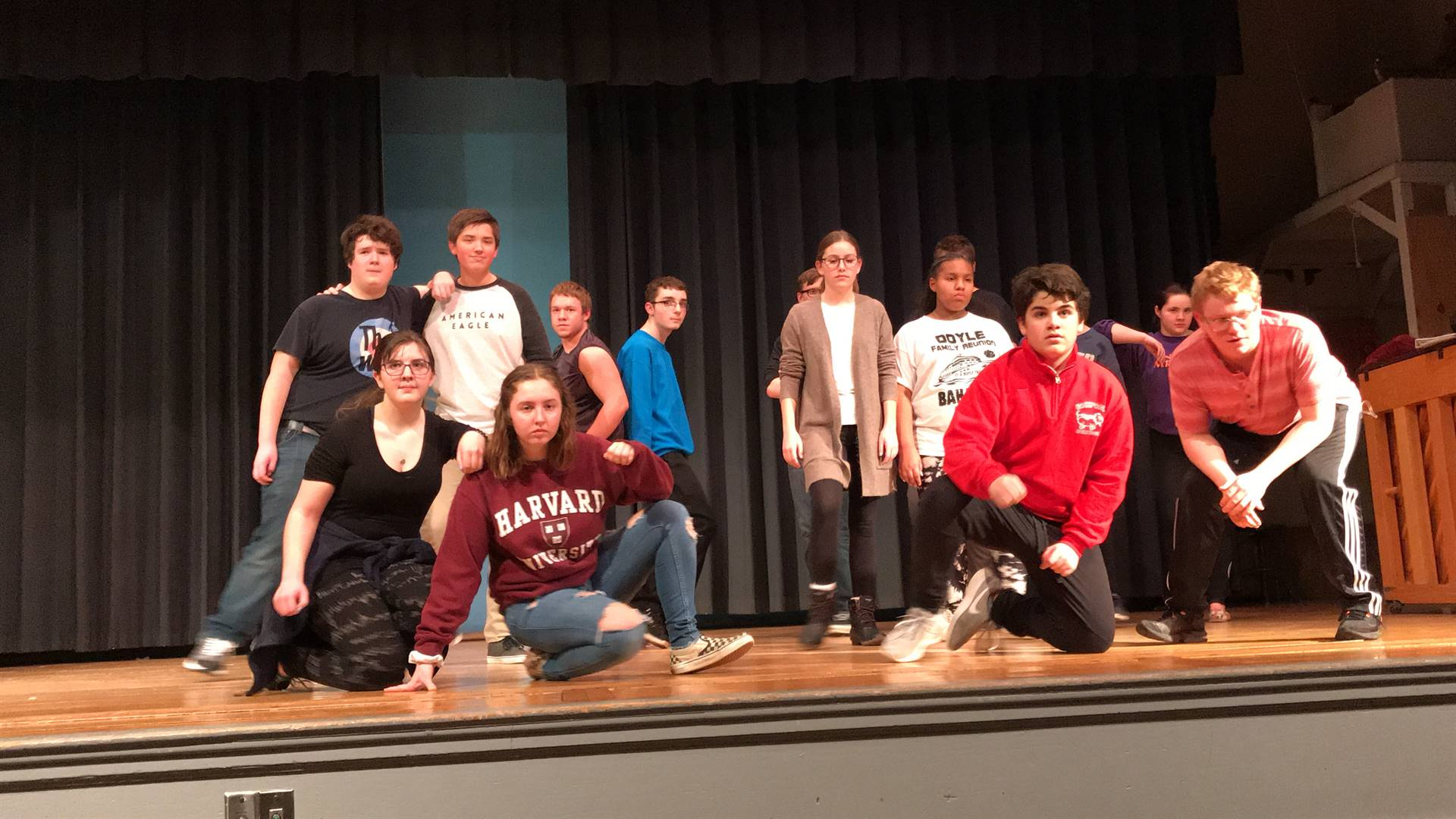 Photo during rehearsal for Spring Musical