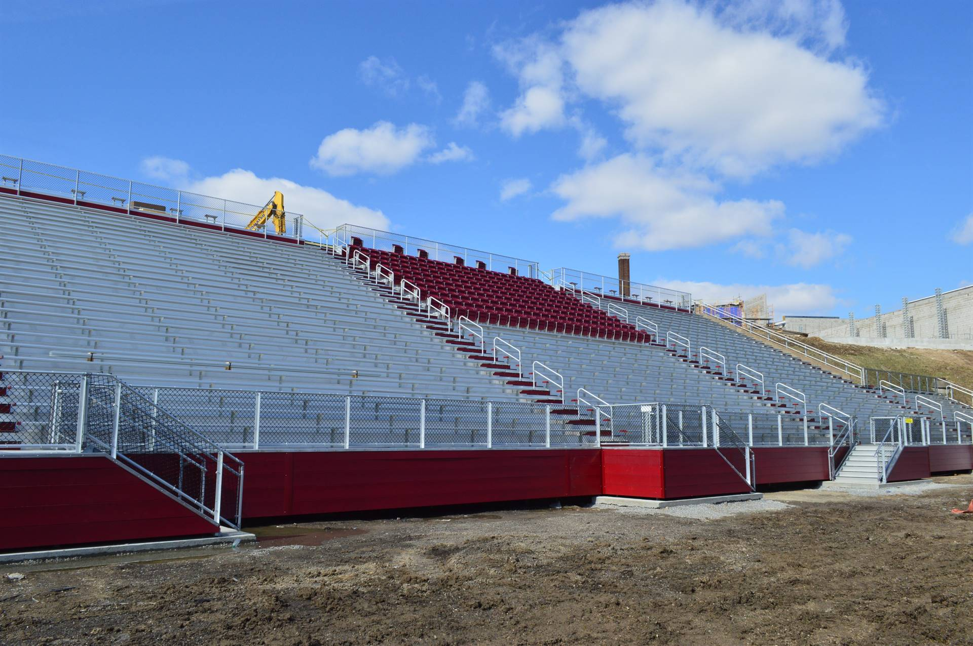 New football stands.