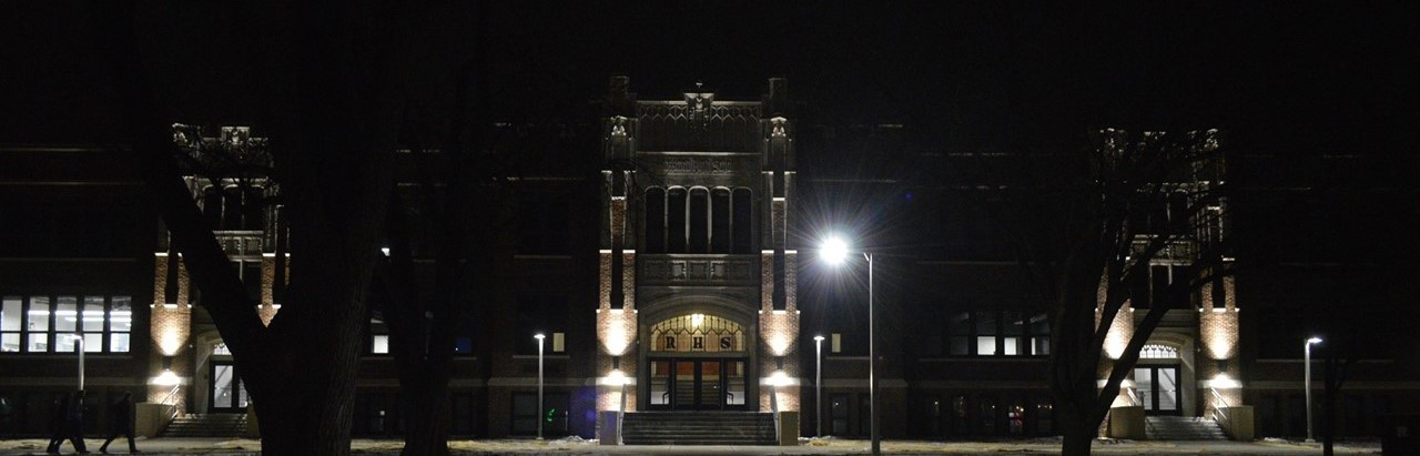 Front facade of the high school