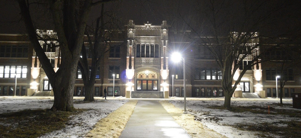 Exterior of Rossford High School