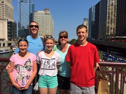 Jeff Taylor and his family in Chicago on vacation.